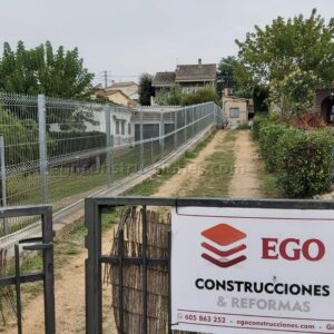 Colocación vallas Ego construcciones